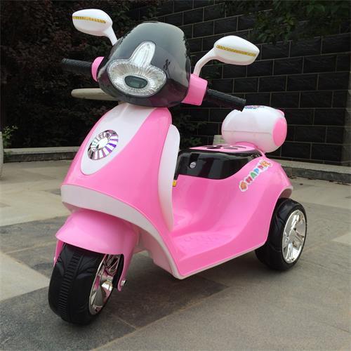 河北童车厂家直销新款儿童电动三轮摩托车米奇木兰摩托车