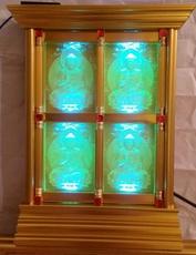 江西渡海公司专业研发生产智能化琉璃砖万佛墙,琉璃佛像万佛墙、寺院智能化万佛架、