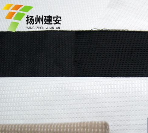 客厅地毯底部用的10/16针热定型丽新布 优质缝编无纺布