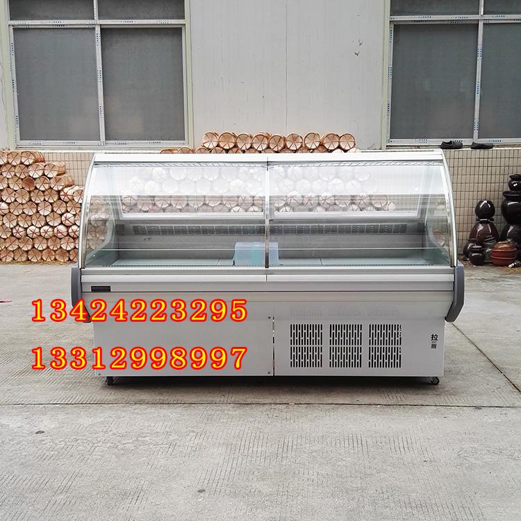 雪尼尔冷柜 前翻盖熟食柜 商超展示熟食寿司 2米一体机无霜风冷