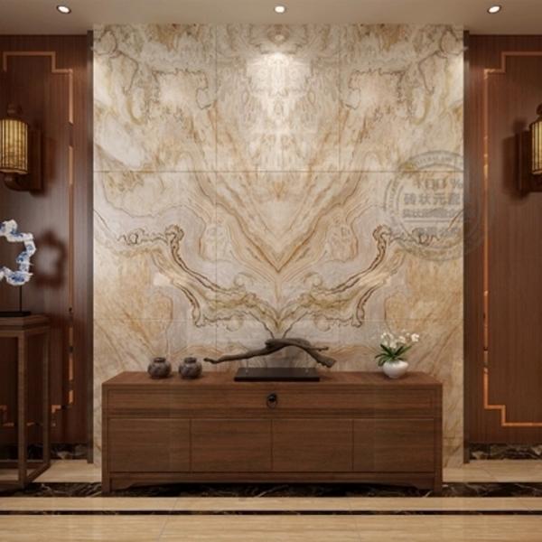 定制瓷砖背景墙 简约欧式客厅电视背景墙仿大理石纹