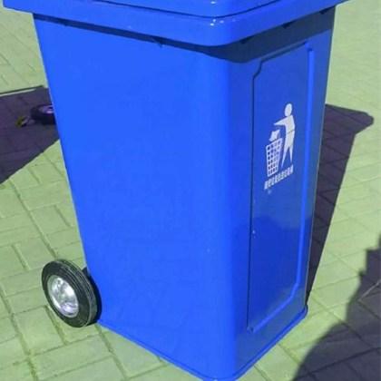 环康240铁垃圾桶厂家直销镀锌钢板方形外形美观价格低