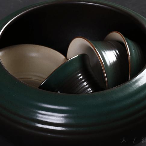 供应大润窑 18头石头釉茶具套装礼品定制功夫茶具批发 特价