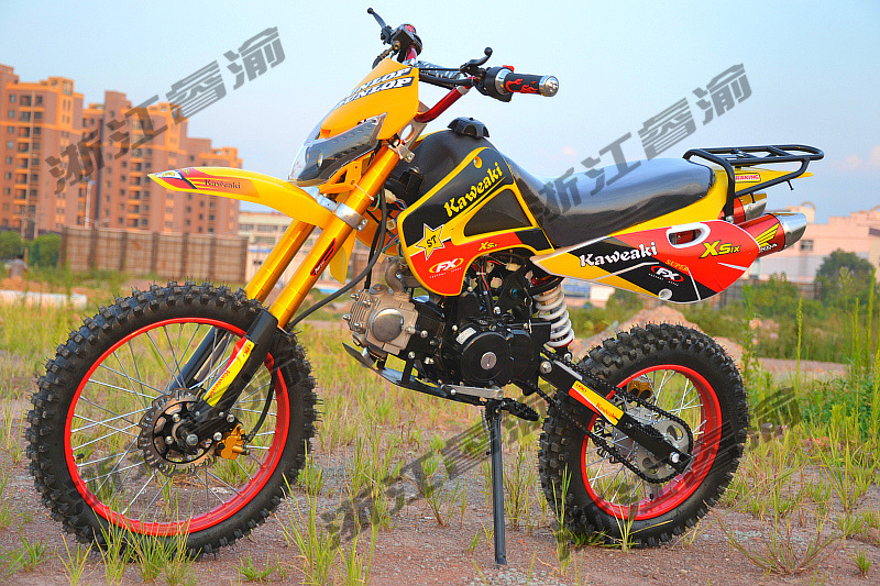 新款川崎越野摩托车两轮越野车四冲程摩托车125高赛山地赛车包邮
