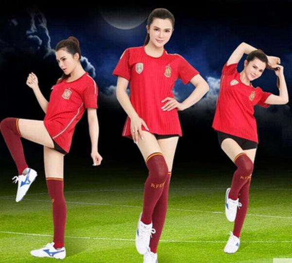 男女足球宝贝套装啦啦队舞台演出服装 足球宝贝演出服 拉拉队服图片