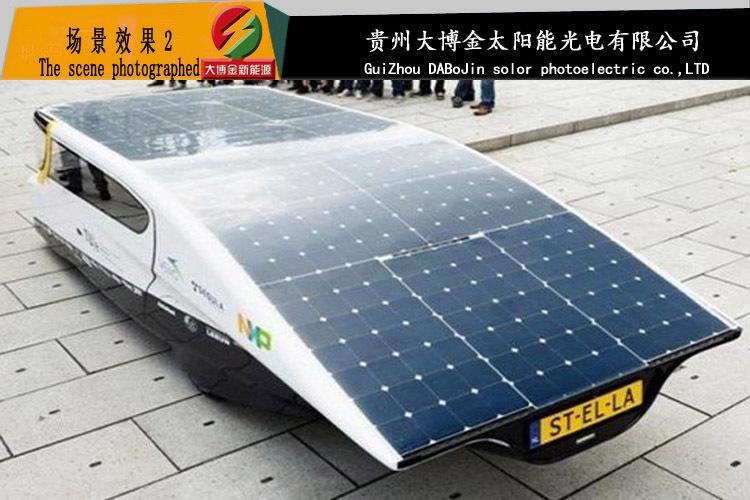 太阳能 窗户专用柔性透光 太阳能 电池板 车载 后