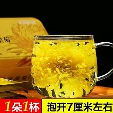特级金丝黄菊  花朵完整 色泽金黄 清香甘甜 (18朵)
