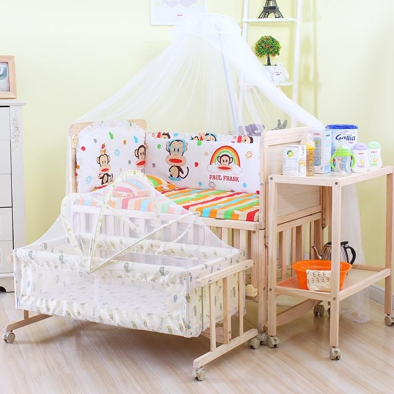 唯宝 多功能宝宝新生儿童床  可摇式静音宝宝床