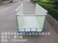 厂家供应:浙江印染厂用玻璃钢手推车 多功能洗水漂染周转车 服装车间用周转布车