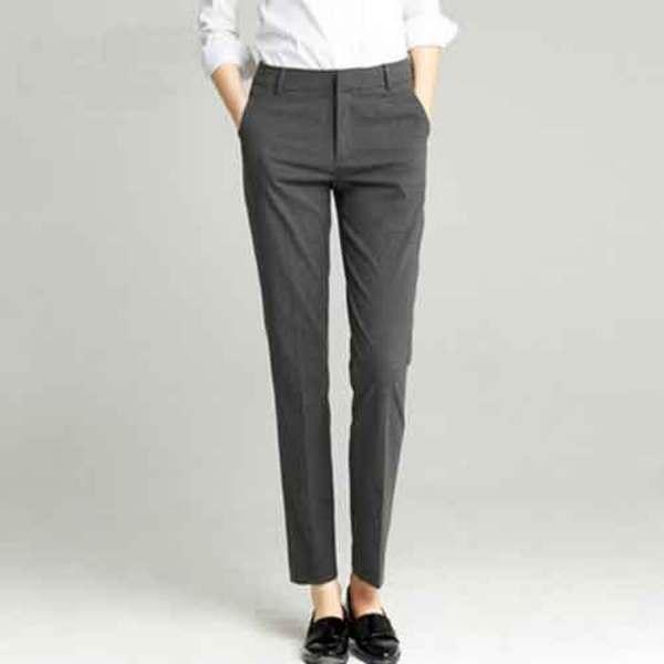 供应女士西裤 都市白领简约修身西裤