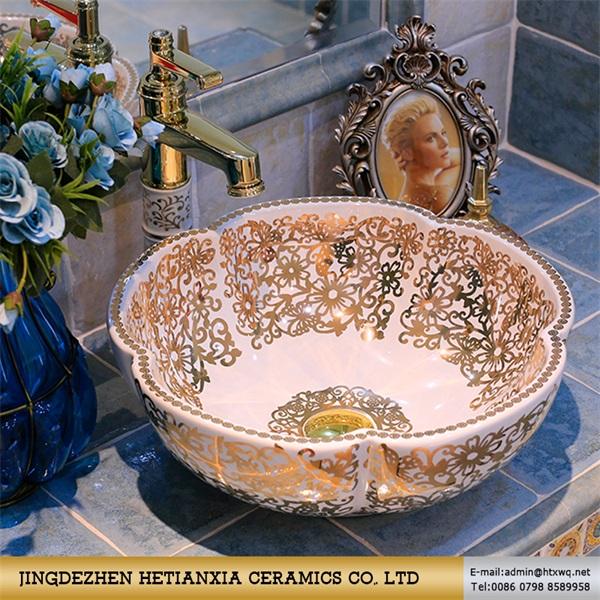 洗手盆陶瓷盆 艺术陶瓷盆 手绘陶瓷盆