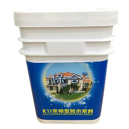 马鞍山K11柔韧型防水涂料 保合高弹抗裂屋面地面防水材料