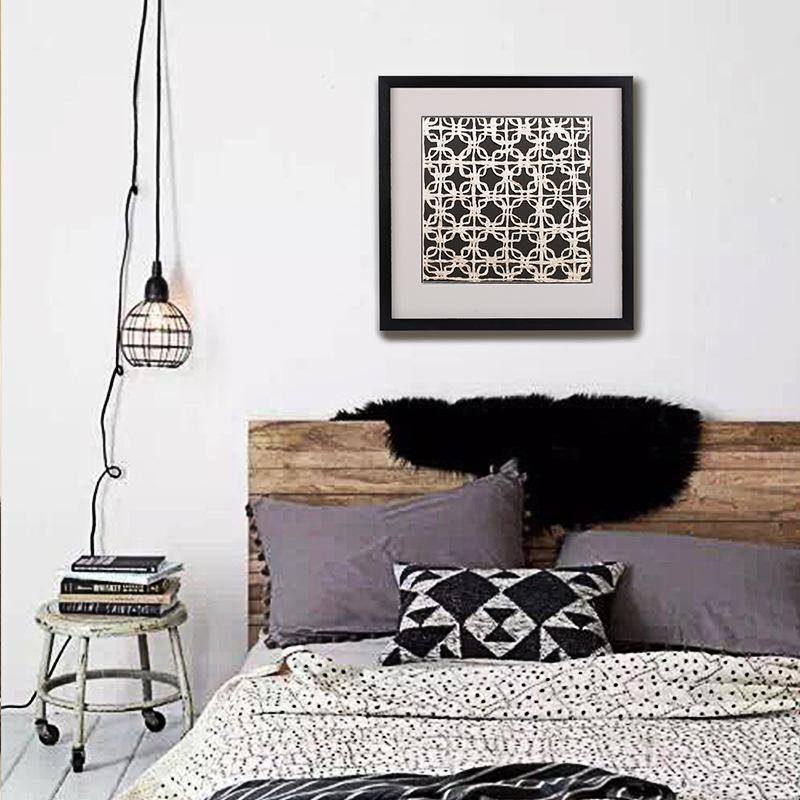 客厅卧室书房装饰画挂画沙发背景墙壁画现代中式简约三联画图片