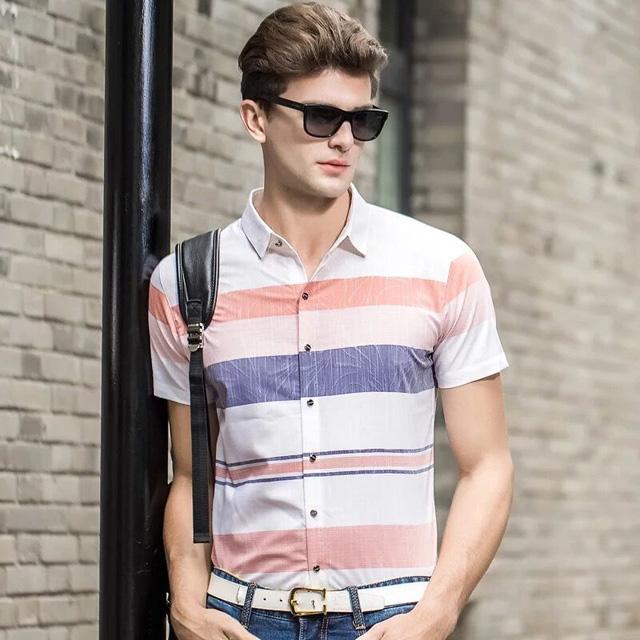 总长无锡工作服定制夏季新款时尚条纹衬衫清凉衬衫