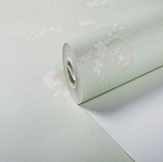 供应 壁纸厂家直销高档无纺布墙纸 家装绿色温馨卧室客厅壁纸