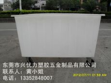 供应:带轮子塑料装布桶 服装厂用运输方桶 塑胶布车桶 滚塑拉丝桶