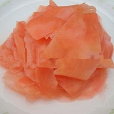 供应厂家直销出口新姜 红色寿司姜片