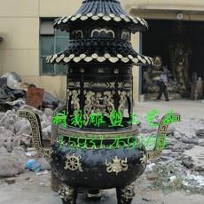 供应铁香炉厂家   加工城市公园铜雕塑 香炉宝鼎大型寺庙铜香炉