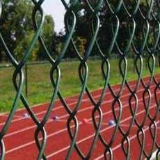 厂家直销可定制浸塑体育场围栏勾花网防撞网隔离栅栏