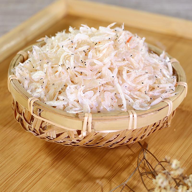 虾皮特级野生淡干无盐 天然即食干货新鲜海米500克