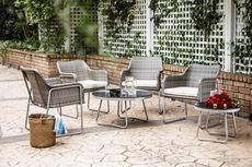 米兰编藤花园客厅花园餐厅家具桌椅 户外休闲桌椅