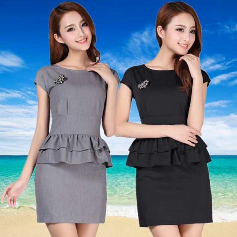 2016新款夏短袖小西装套裙女性职业套装