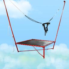儿童蹦蹦床 蹦极床价格 公园蹦极床 单人钢架蹦极
