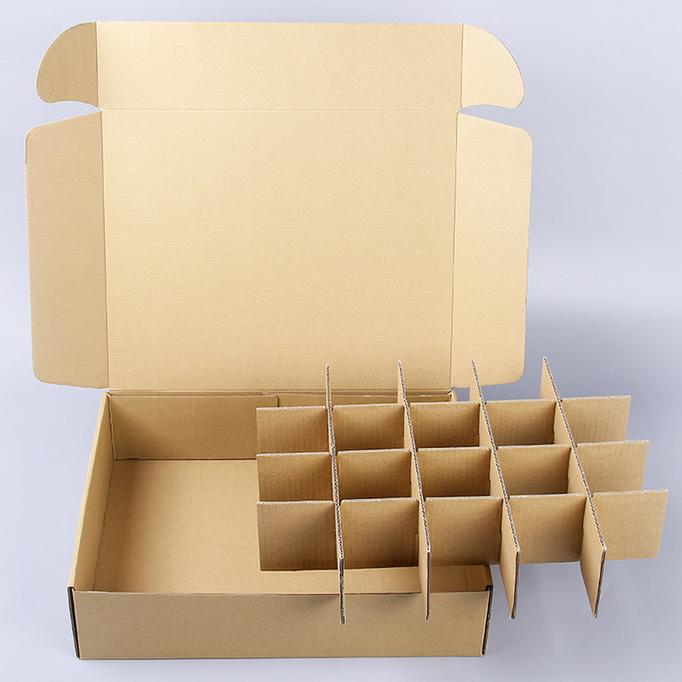 水果苹果纸箱快递纸箱包装盒 卡槽纸隔板井字格厂商定制飞机盒