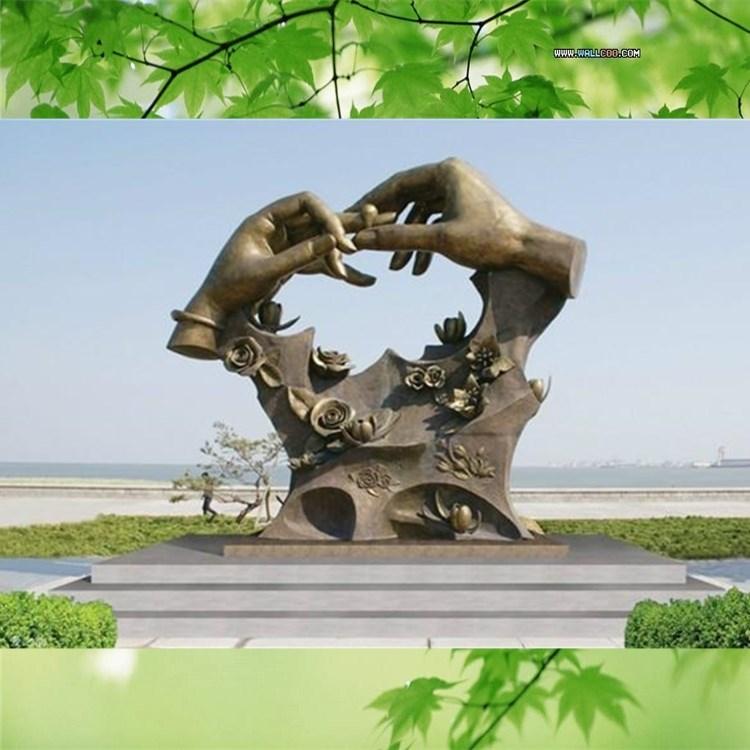 玻璃钢雕塑园林人物爱情主题雕塑仿铜人物雕塑美化城市人物摆件