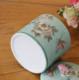 供应中式现代纯手工彩绘粘鸟陶瓷茶叶罐家居日用酒店高档陶罐工厂直供