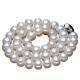 供应 初诺 诸暨AAAA强光天然淡水珍珠项链 馒头圆扁圆珍珠项饰