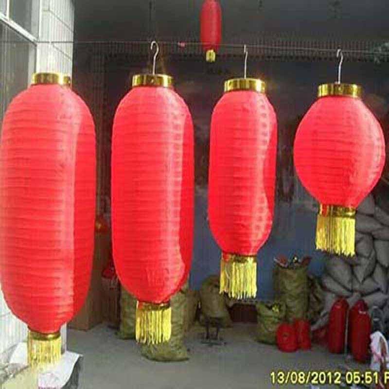定制圆灯笼串韩式春节折叠五连串灯笼 印字灯笼户外装饰广告灯笼