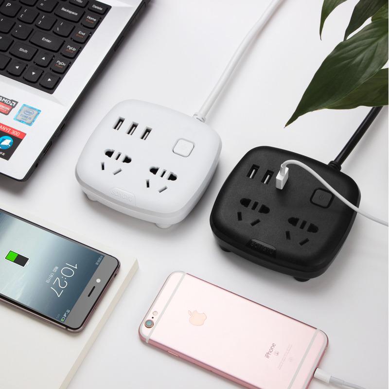 创意多功能插座智能USB排插排接线插板立体魔方带线插板