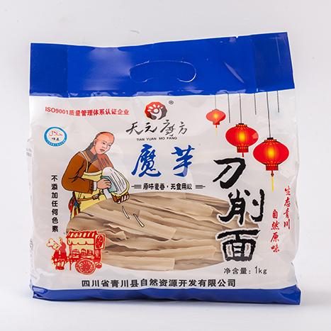 【天元魔方】魔芋刀削面来自大山深处的纯天然食材六种口味可选好吃又劲道