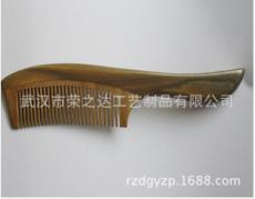 生产供应 雕刻绿檀木梳子 木梳子定做 品质优良