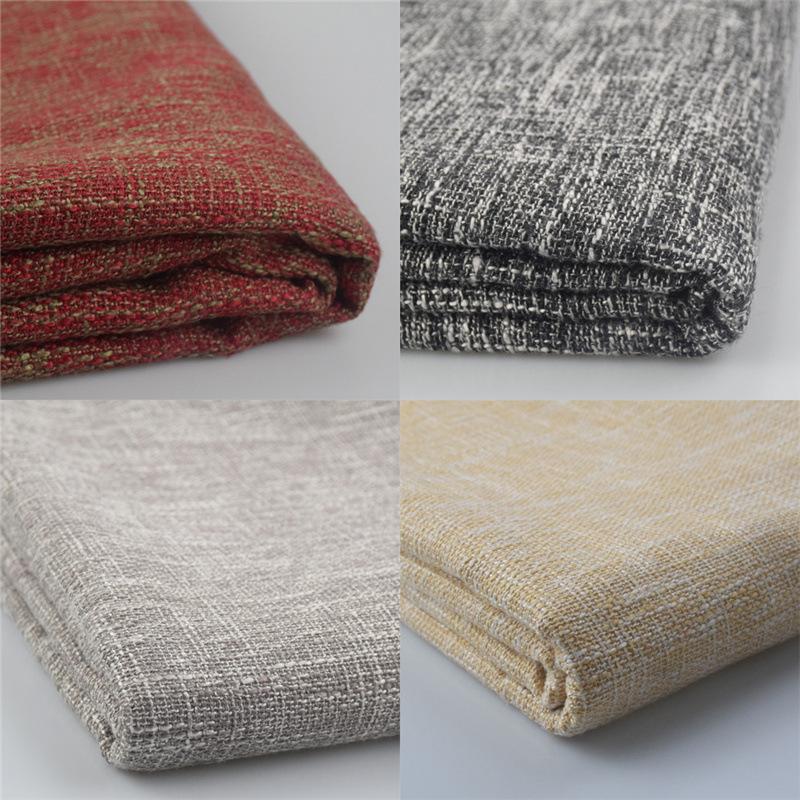 高档涤棉窗帘遮光布料 2.8米宽棉麻沙发布料批发工程背景软包布料