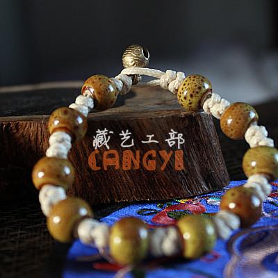 纯手工制作钧瓷波西米亚民族风复古个性禅意手串手链首饰品手镯