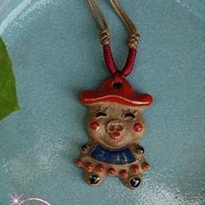 瓷器钧瓷首饰饰品窑变美品挂饰项链小猪宝宝挂件把玩收藏