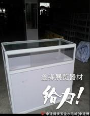 白色八棱柱展柜展览馆专用玻璃高柜 矮柜制作工厂 展示柜台展会标摊专用批发