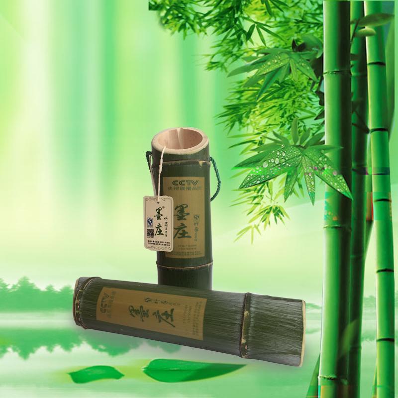 【墨庄酒业】厂家直销 自然鲜竹酒 竹筒酒 正宗毛竹 活竹酒52度2支礼盒装 送礼佳品