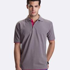 定制撞色翻领polo衫文化衫工作服定做T恤订制团体服装定做广告衫