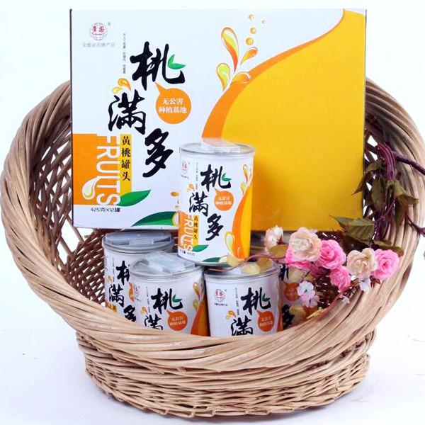 多国桃满多黄桃罐头425g12罐水果罐头厂价直供