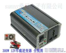 300W车载逆变器12V/24V/48V转220V车载电源转换器,车载笔记本电源, 带USB车载充电器