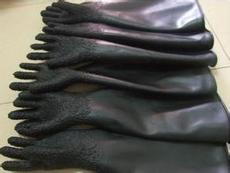 供应珠海喷砂防护手套|橡胶颗粒型喷砂防护手套价格
