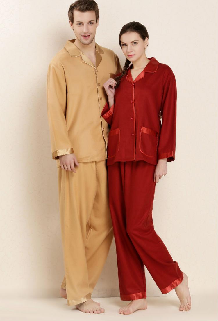 大丝之道 品牌秋冬季睡衣睡袍 男女款30欧姆真丝拉绒睡衣 桑蚕丝睡衣