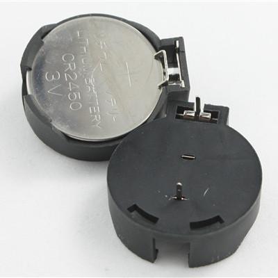 美阳电池座 美阳 BS-2450-1DIP无筋 电池座 CR2450 3V纽扣电池座厂家