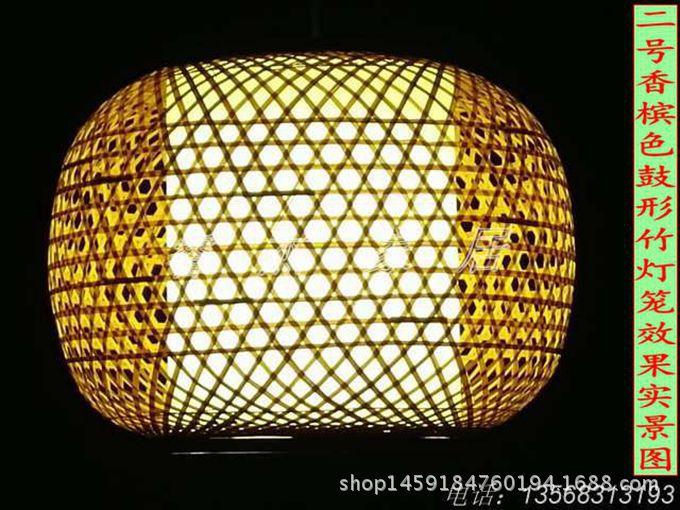 竹灯笼吊灯农家乐竹灯罩手工竹编灯笼中式仿古过道灯竹灯笼茶楼灯