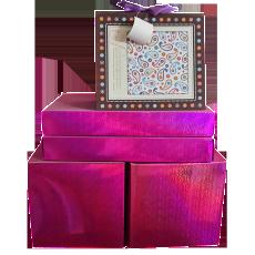 湖南百捷利包装印刷定做定制批发紫色套装套盒礼盒纸盒包装盒高档时尚创意
