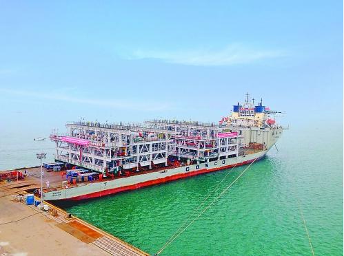 中国石油首个国际LNG模块化建造完成