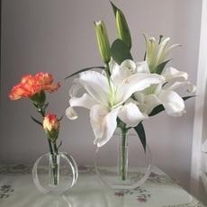 高档百搭欧式水晶小花瓶  家居装饰桌面摆件工艺品
